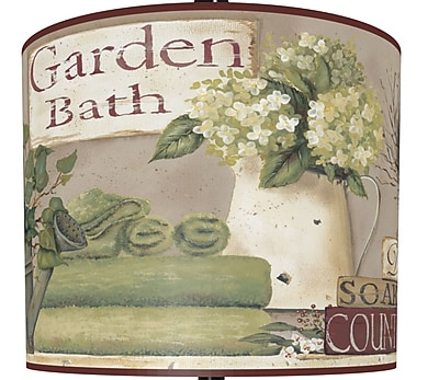 Illumalite Designs Garden Bath Polystyrene Drum Lamp Shade; 7''