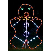 Queens of Christmas Mr Gingerbreadman LED Light Christmas Decoration