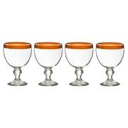 Global Amici El Gordito 26 Oz. Glass (Set of 4); Orange