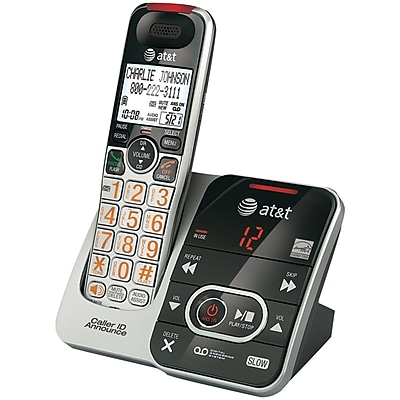 AT&T Dect 6.0 ATCRL32102 ig Button Cordless Phone with Digital Answering System & Caller ID