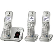 Panasonic KX-TGE263S Single Line Cordless Office Telephone with 3-Handset, Silver