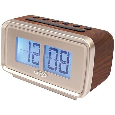 Jensen AM/FM Dual Alarm Clock with Digital Retro Flip Display (JENJCR232)