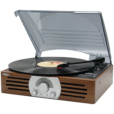 Jensen 3-Speed Stereo Turntable with AM/FM Stereo Radio (JENJTA222)