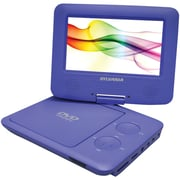 Sylvania Portable DVD SDVD7027 PURPLE Player with Car Bag/Kit, Swivel Screen