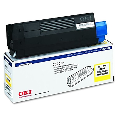Okidata 43034801 Yellow Toner Cartridge, Type C6