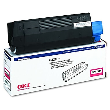 Okidata 43034802 Magenta Toner Cartridge, Type C6