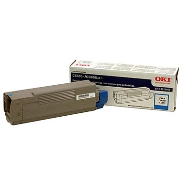 Okidata 43324403 Cyan Toner Cartridge, Type C8