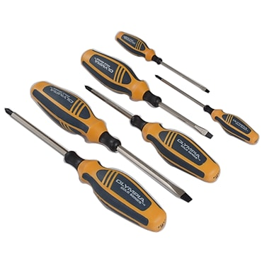 Olympia Tools Steel Screwdriver Set, Gold Series