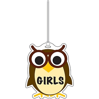 Ashley Owl Girls Rubber Hall Pass