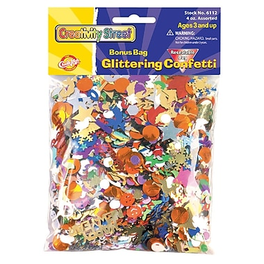 Chenille Kraft® Glittering Confetti Bonus Bag, 4 oz. Assortment