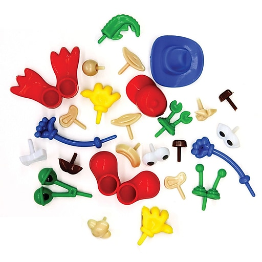 Creativity Street Modeling Dough & Clay Body Parts & Accessories, Assorted Shapes & Colors, 26 Pieces (CK-9660)