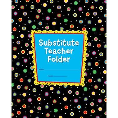 Creative Teaching Press CTP1720 Dots On Black Substitute Teacher Folder, Grade Kindergarten - 5