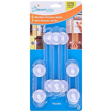 Dreambaby® Multipurpose Latches Value Pack, 7/Pack (DB-L704)