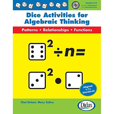Didax® Dice Activities For Algebraic Thinking Book, Grades 5 - 8