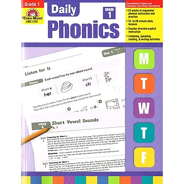 Evan-Moor – Livre « Daily Phonics », 1re année, arts du langage et lecture (EMC2787)