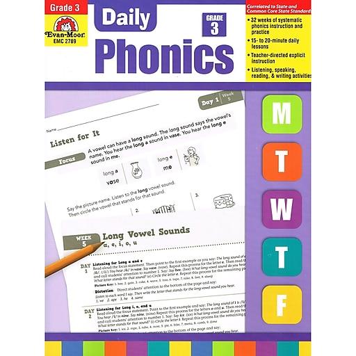 Evan-Moor® Daily Phonics Book, Grade 3