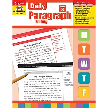 Evan-Moor – Livre d'activités de rédaction « Daily Paragraph Editing » pour les enseignants de 2e secondaire (EMC2838)