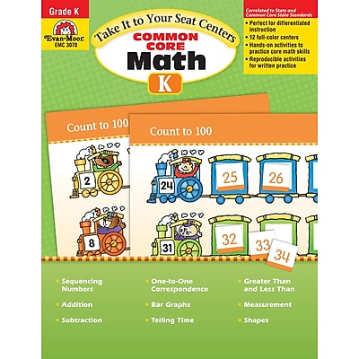 Evan-Moor® Take It To Your Seat Math Centers, Grade K