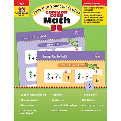 Evan-Moor® Take It To Your Seat Math Centers, Grade 1
