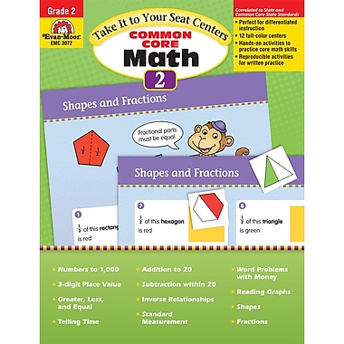 Evan-Moor Emc3072 Take It To Your Seat Common Core Math Centers Book, Grade 2 (EMC3072)