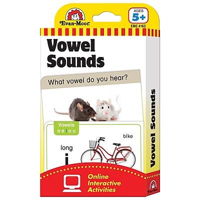 Evan-Moor® Vowel Sounds Flash Cards, Language Arts/Reading