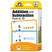 Learning Line: Addition and Subtraction Facts to 10 Flashcards for Grades 1+, 56 Pack (EMC4168)