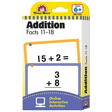 Evan-Moor Learning Line: Flash Card, Addition Facts 11 - 18 (EMC4169)