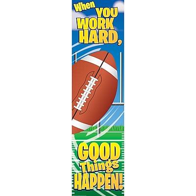 Eureka® Motivational Vertical Banner, Football