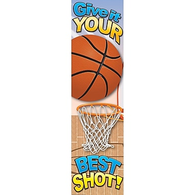 Eureka® Motivational Vertical Banner, Basketball