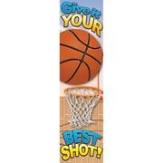 Eureka® Motivational Vertical Banner, Basketball