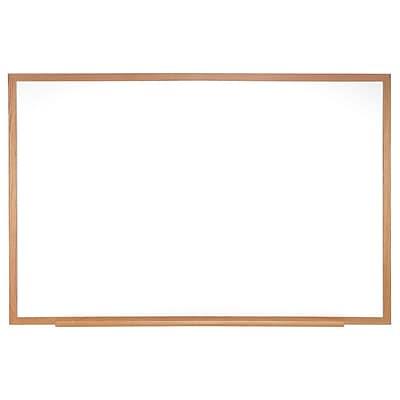 Ghent® Melamine Markerboard W/Wood Frame, 2' X 3'