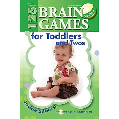 Gryphon House 125 Brain Games For Toddlers and Twos Revised Book, Grade PreK (GR-13534)