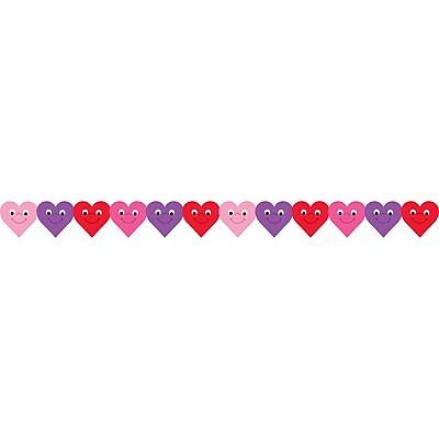 Hygloss® Happy Hearts Die-Cut Classroom Border, 12/Pkg