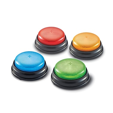Learning ResourcesMD – Boutons-signal d'apprentissage lumineux et sonores, 4/paquet