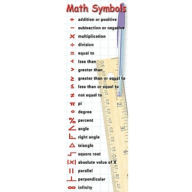 McDonald Publishing Math Symbols & Behaviors Smart Bookmark