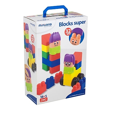 Miniland Educational 32 Piece Blocks Super Set
