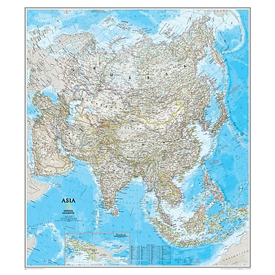 National Geographic Maps® Asia Classic, Laminated