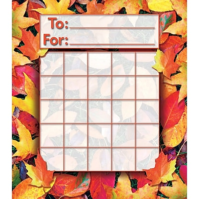 North Star Teacher Resources® Fall Leaves Mini Incentive Chart