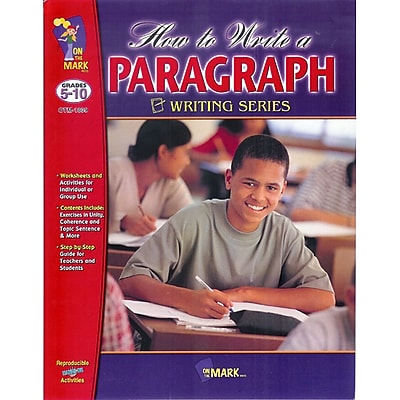 On The Mark Press® How To Write A Paragraph Book