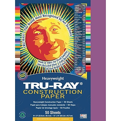 Pacon® Tru-Ray® Sulphite Construction Paper, Magenta, 12