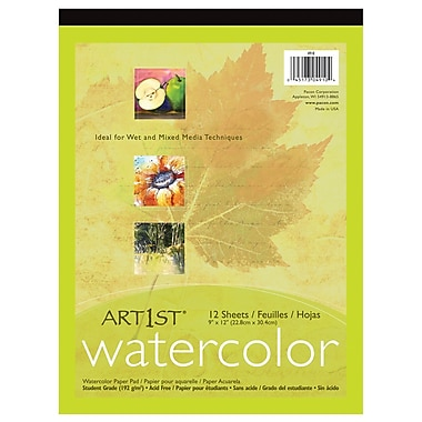 Pacon Art1st 12 Sheets Watercolour Pad, 9