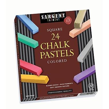 Sargent Art SAR224124 Assorted Square Chalk Pastels, 2.5