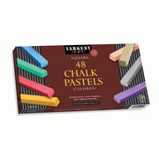"Sargent Art Sar224148 Assorted Square Chalk Pastel, 2.5"" x 0.38"", 48/Pack (SAR224148)"