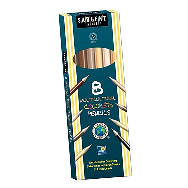 Sargent Art SAR227208 Pre-Sharpened Assorted Multicultural Colored Pencil, 7