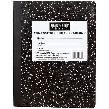 Sargent Art® Wide Ruled Hardcover Composition Notebook, 7 1/2