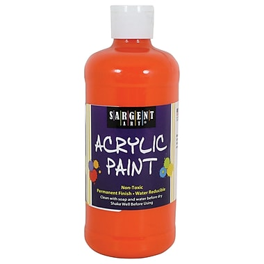Sargent Art Non-Toxic 16 oz. Acrylic Paint, Orange (SAR242414)