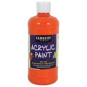 Sargent Art Non-Toxic 16 oz. Acrylic Paint, Orange (24-2414)