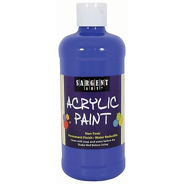 Sargent Art Non-Toxic 16 oz. Acrylic Paint, Blue (24-2450)