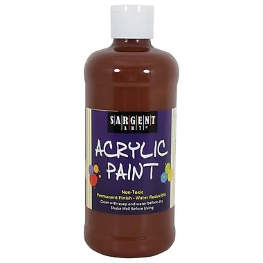 Sargent Art Non-Toxic 16 oz. Acrylic Paint, Brown (24-2488)