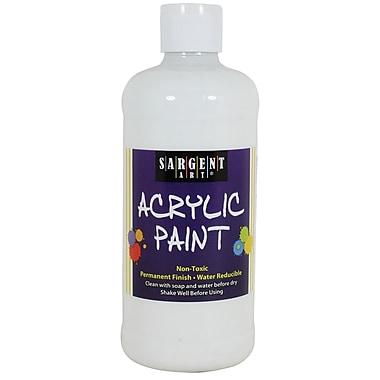 Sargent Art Non-Toxic 16 oz. Acrylic Paint, White (24-2496)